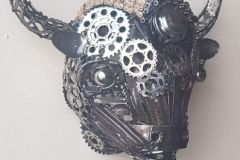 Big Bison - COLNIC Design. Made a bisonhead from old motorcycle and bicycle parts. Very big and heavy.