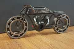 Scrapmetal boardtracker made from different parts m42 bolt for engine and 2 big bearrings. About 60cm long - COLNIC Design