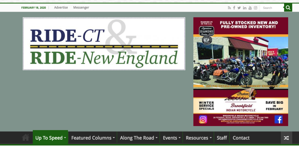 RIDE-CT Ride - New England - COLNIC Design