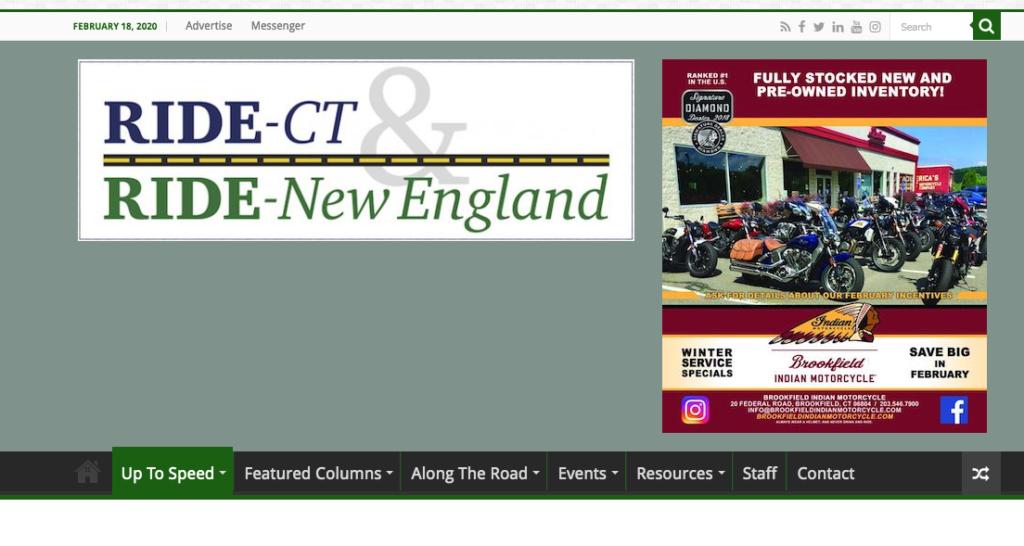 RIDE-CT Ride - New England - COLNIC Design